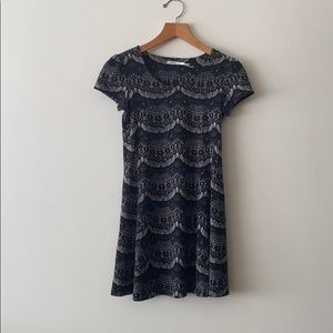 Lace pattern shift dress from Urban Outfitters